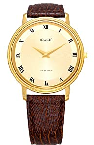 Jowissa Men's J4.004.L Opera (Safir) Gold PVD Gold-Tone Dial Leather Watch