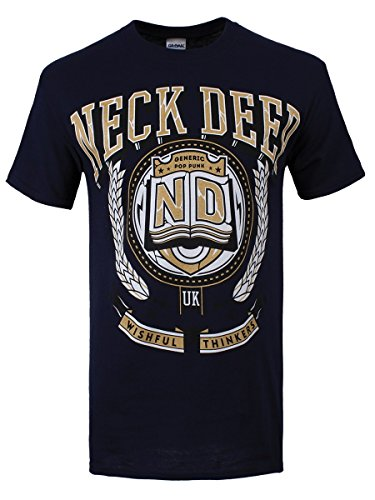 Neck Deep t-shirt Crest da uomo in blu navy