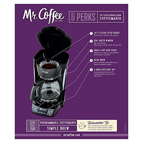 Mr Coffee Programmable Coffee Maker Cgx23 : Mr. Coffee CGX23 12-Cup Programmable Coffeemaker, Black Home Garden Kitchen Dining Kitchen ...
