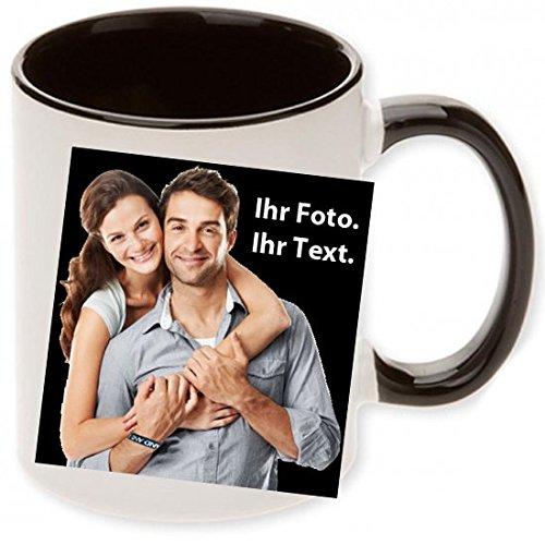 """Fototasse """" Schwarz """" Wir drucken"""
