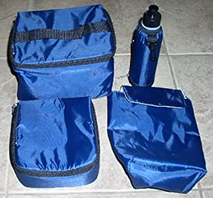 Frozn By Ingear 4 Piece Insulated 6 Pack Cooler / Lunch Bag / Water Bottle / Lunch Cooler