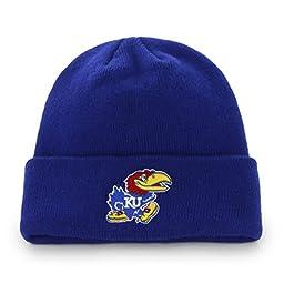 NCAA Kansas Jayhawks \'47 Raised Cuff Knit Hat, Royal, One Size