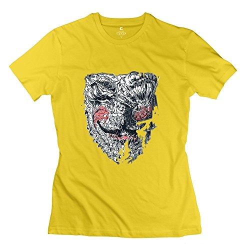 STAYUR HX-Kingdom Women's Unique T-shirt - V For Vendetta Mask Black