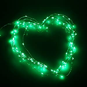 (10M 33FT 100LED ,Green) DBPOWER Led String Lights Copper Wired LED Fairy Starry Light for Outdoor, Gardens, Christmas, Homes, Wedding and Party by DBPOWER