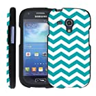 (Chevron Teal White) Design Shell Cover Case for Samsung Galaxy S III (S3) Mini by ManiaGear