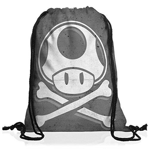 A.N.T. Toad Skull Borsa da spalla sacco sacchetto drawstring bag gymsac mario console videogioco console super world