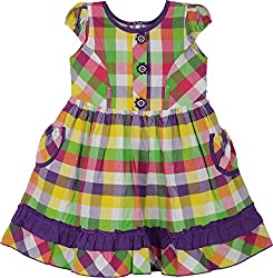 Mathudi Girls' Frock (8066_3-4 yrs, 3-4 Years)