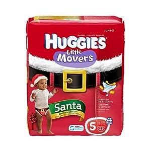 Huggies Santa Diaper Jumbo Pack Size 5 (27lbs +)