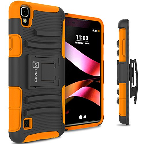 LG Tribute HD Holster Case, LG X Style Holster Case CoverON [Explorer Series] Holster Hybrid Armor Belt Clip Hard Phone Cover For LG Tribute HD / X Style Holster Case - Orange Neon (Lg Tracfone Cases compare prices)