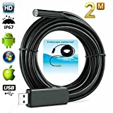 Mini Flexible Usb Endoscope Borescope Camera (VGA) 2 meters