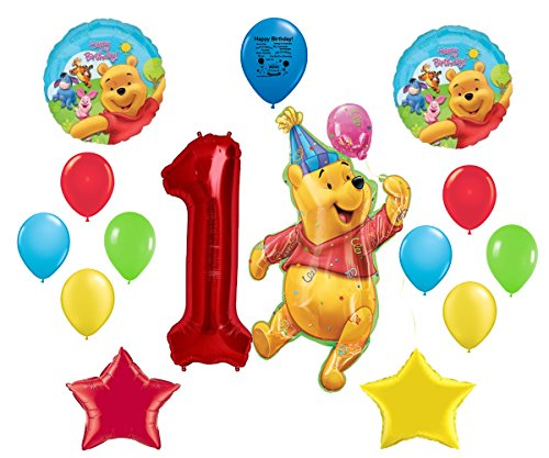 Winnie the Pooh 1st Birthday Balloon Decoration Kit (Winnie Pooh Table compare prices)
