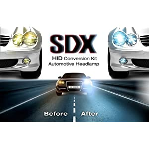 "HID Xenon Headlight ""Slim"" Conversion Kit by SDX, 9006, 6000K"
