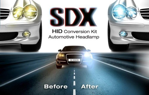 "Sdx Xenon Hid Headlight Dc ""Premium"" Conversion Kits - 9007 (Hb5) Lo/Hi Halogen - 6000K"