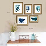 Art Street Emporio Rich Set Of 5 Photo Frame - Natural Wood Color (Set Of 5 Individual Photo Frame)
