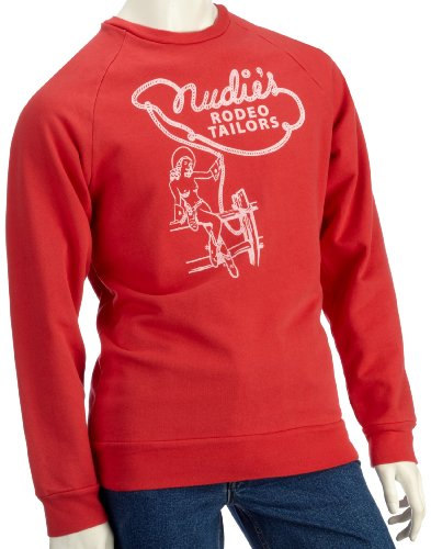 Lost Property by Worn Free Mens Nudie Cohen Sweatshirt Red XS