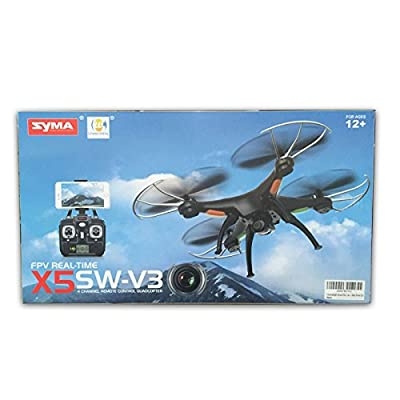 Cheerwing Syma X5SW-V3 FPV 2.4Ghz 4CH 6-Axis Gyro RC Headless Quadcopter Drone UFO with HD Wifi Camera (Black) from Syma