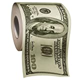 The Gags Jumbo Hundred Dollar Bill Money Toilet Paper-Twice As Big As Other Rolls