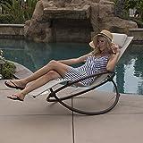Bellezza© Orbital Lounger Chair Garden Patio Portable Pool Beach Outdoor Foldable (Beige)