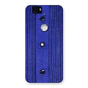 Royal Blue Sweat Print Back Case Cover for Google Nexus-6P