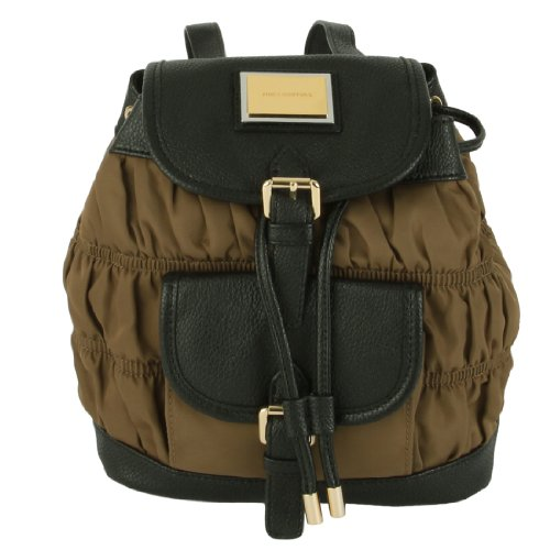 Juicy Couture Nylon Rouched Mini Backpack-Brown