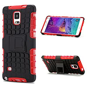 Galaxy Note 4 Case, Note 4 Case, BAROX Heavy Duty Rugged Dual Layer Holster Armor Denfender Case with Kickstand for Samsung Galaxy Note 4