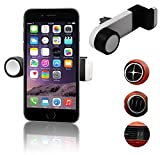 CaseGuru Portable Car Air Vent Mount for Smartphones works with iPhone, 3, 3GS, 4, 4S, 5,5C 6, 6 Plus, all HTC, HTC One S, V, X, XL, HTC Desire, C, HD, S, Z, HTC Desire 620, Desire 820 One M8, XE, XL, HTC Wildfire, S, HTC 7 Pro, ChaCha, Incredible S,