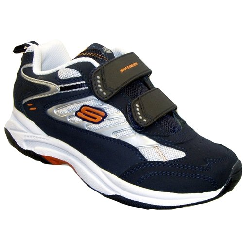 Skechers Frontier Rim Boys Trainer White & Navy