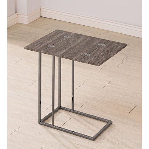 Coaster Company Weathered Wood and Metal Snack Table (Sliding Tv Table compare prices)