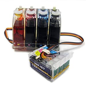 Gigablock Bulk Continuous Ink System (CIS) for: Epson Stylus CX5000 CX7400 CX8400 and NX200 NX215 NX400 NX415 All-in-One Printer (Related Cartridge # : T069120, T069220, T069320, T069420)