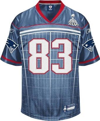 NFL Mens New England Patriots Wes Welker #83 2011 Super Bowl XLVI Participant Jersey by Reebok