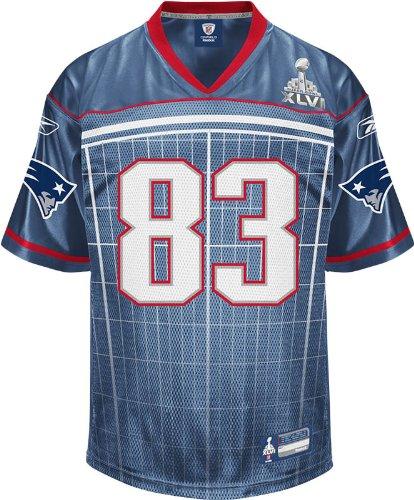 Nfl Men's New England Patriots Wes Welker #83 2011 Super Bowl Xlvi Participant Jersey Picture