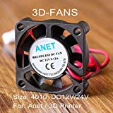 Laliva 10Pcs/lot Anet A8 A6 4010 Fan 12V / 24V Circuit Board Heat Cooler Ventilator Small Fan for 3D Printer - (Size: 24V) (Color: 24V, Tamaño: 24V)