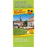 Rad- und Wanderkarte Bergstraße Odenwald Nord, Bensheim - Reichelsheim - Michelstadt: mit Ausflugszielen, Einkehr...