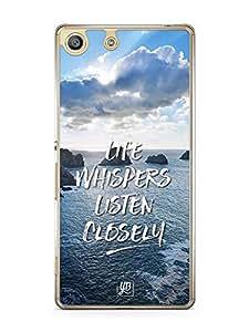 YuBingo Life Whispers. Listen Carefully Designer Mobile Case Back Cover for Sony Xperia M5