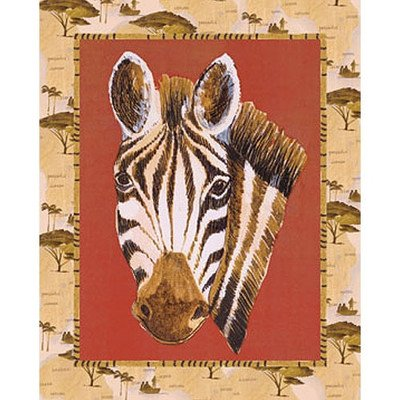 Out Of Africa Zebra Canvas Art front-889172