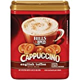 Hills Bros., Cappuccino, English Toffee Drink Mix, 16oz Container (Pack of 3)