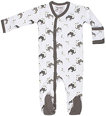 Organic Cotton Baby Clothes Sleewear Long Sleeve Footie GOTS Certified