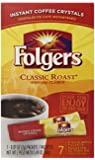 Folgers Classic Roast Instant Coffee, Single Serve Packets, 84 Count