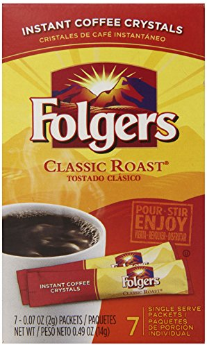 Folgers Instant Coffee Crystals Classic Roast Single Serve ...