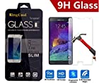 Note 4 Screen Protector,KINGCOOL High Definition Premium Tempered Glass Clear Screen Protector for Samsung Galaxy Note 4 2014 Release