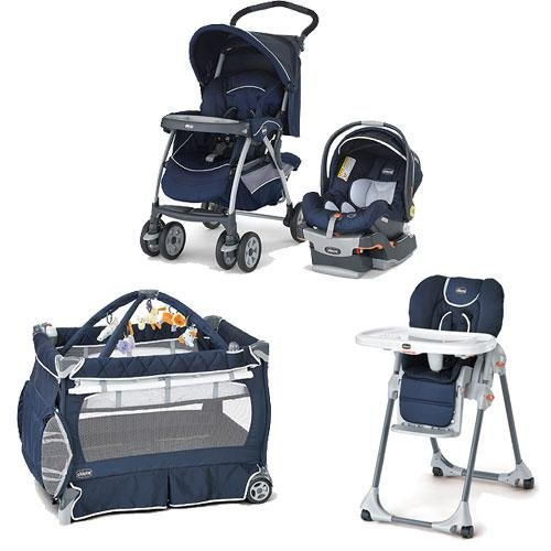 Chicco Pegaso Kit Matching Stroller System High Chair And Play Yard Combo - Pegaso