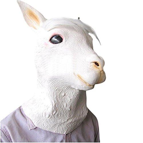 [Monkey Latex Rubber Alpaca Head Mask Halloween Party Costume Decorations] (Black Sheep Costumes)