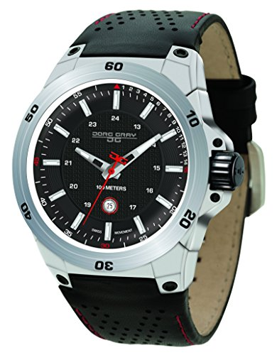 Jorg Gray JG7800-11 - Reloj de pulsera hombre, piel, color negro