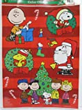 "A Charlie Brown Christmas ""Oh Christmas Tree"" Color Clings Window Mirror Art Stickers Decorations"