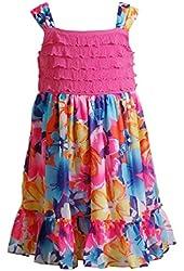 Youngland Baby Girls' Eyelash Chiffon Knit Woven Dress