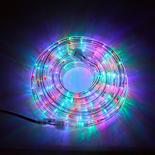 24 Ft. Heavy Duty Multi Color 287 Led Rope Lights - Expandable To 216 Ft.