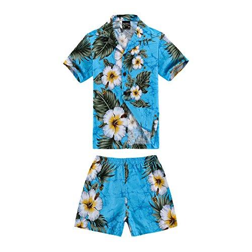 Boy Hawaiian Shirt and Shorts 2 Piece Cabana