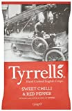 Tyrells Sweet Chilli and Red Pepper Chips 150 g (Pack of 12)