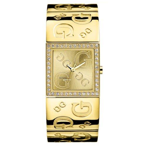 Guess Ladies Gold Sunray Dial Quartz Watch - 80340L1