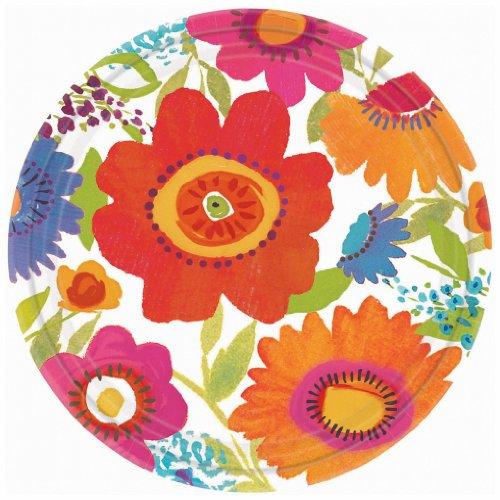 """Dinner Plates 10.5"""" 8/Pkg-Floral Splash - 1"""